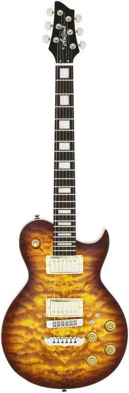 【送料無料】アリアプロツー Aria ProII PE-480/BS(Brown Sunburst) キルテッドメイプル・トップ エレキギター/ケース付【smtb-TK】