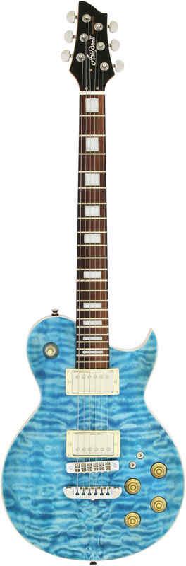 【送料無料】アリアプロツー Aria ProII PE-480/SEBL(See-through Emerald Blue) キルテッドメイプル・トップ エレキギター/ケース付【smtb-TK】