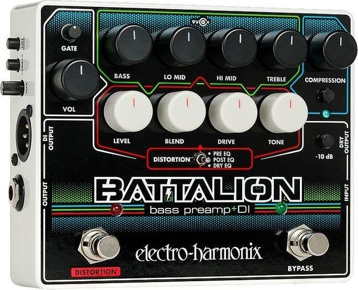 【送料無料】ELECTRO HARMONIX BATTALION Bass Preamp & DI ベースプリアンプ DI【smtb-TK】