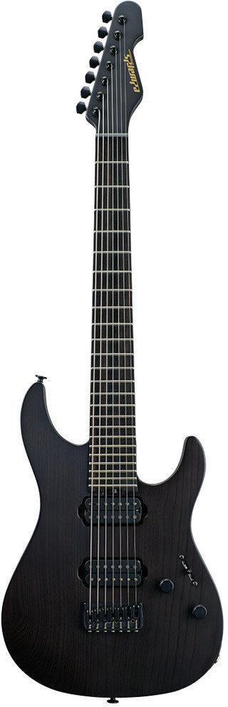 【送料無料】エドワーズ edwards E-SN-24 FIXED 7ST See Thru Black Satin 7弦 ギター【smtb-TK】