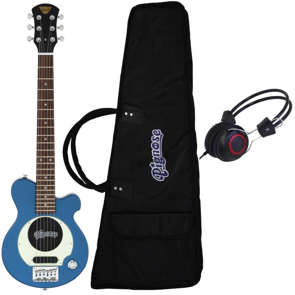 【送料無料】ピグノーズ Pignose PGG-200 MBL+ヘッドホン アンプ内蔵ギター【smtb-TK】
