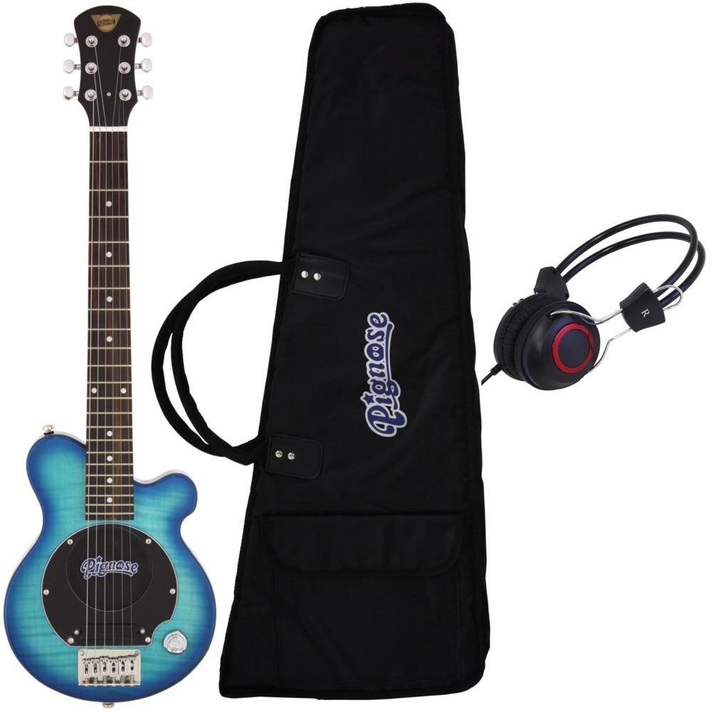 【送料無料】ピグノーズ Pignose PGG-200/FM SBL+ヘッドホン アンプ内蔵ギター【smtb-TK】