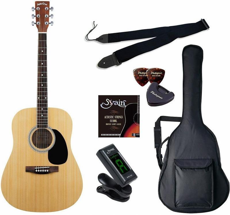 【送料無料】セピアクルー Sepia Crue WG-10/N/初心者入門6点セット アコースティックギター ライトセット 【smtb-TK】