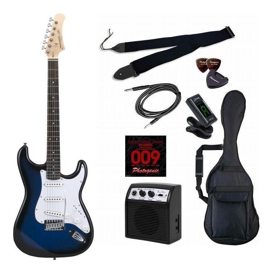 【送料無料】Photogenic ST-180/BLS/初心者入門9点セット エレキギター ライトセット【smtb-TK】