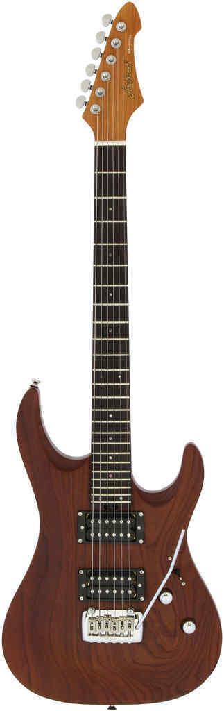【送料無料】AriaProII MAC-DLX STBR(Stained Brown) サーモ処理木材使用 エレキギター/ケース付【smtb-TK】