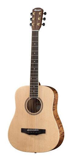 Morris LA-021 NAT スプルース単板トップ コンパクトサイズ アコースティックギター ミニギター/ソフトケース付【送料無料】【smtb-TK】