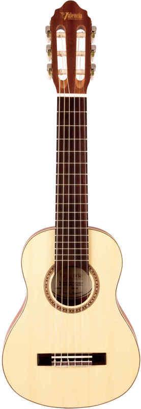 【送料無料】ヴァレンシア Valencia VC350 全長740mm トラベルサイズ ミニ・クラシックギター/ケース付【smtb-TK】