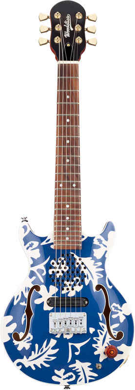 【送料無料】Woodstics WS-MINI Blue & White Aloha 横山健 Ken Yokoyama プロデュース アンプ内蔵ギター【smtb-TK】