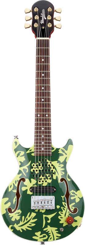 【送料無料】Woodstics WS-MINI Deep Green & Green Aloha 横山健 Ken Yokoyama プロデュース アンプ内蔵ギター【smtb-TK】