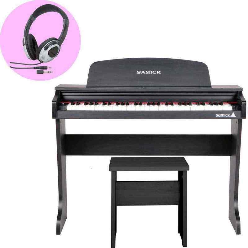 【送料無料】SAMICK 61KID-O2/Black/ヘッドホン付 ミニ デジタルピアノ/ブラック(黒) 61鍵盤 子供用 電子ピアノ【smtb-TK】