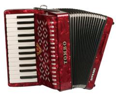【送料無料】トンボ TOMBO TA-27S[ソプラノ] 赤パール Ensemble 合奏用アコーディオン 27鍵【smtb-TK】