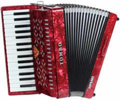 【送料無料】トンボ TOMBO TB-32S[ソプラノ] 赤パール Ensemble 合奏用アコーディオン 32鍵【smtb-TK】