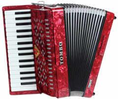 【送料無料】トンボ TOMBO TB-32T[テナー] 赤パール Ensemble 合奏用アコーディオン 32鍵【smtb-TK】