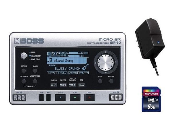 【送料無料】ボス BOSS BR-80(純正ACアダプター/PSA-100S2+SDHCカード/8GB付) MICRO BRの最新モデル【smtb-TK】