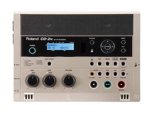 【送料無料】ローランド Roland CD-2u 練習や学習に活かせる、簡単操作で高品位なレコーディングが可能なSD/CDレコーダー【smtb-TK】