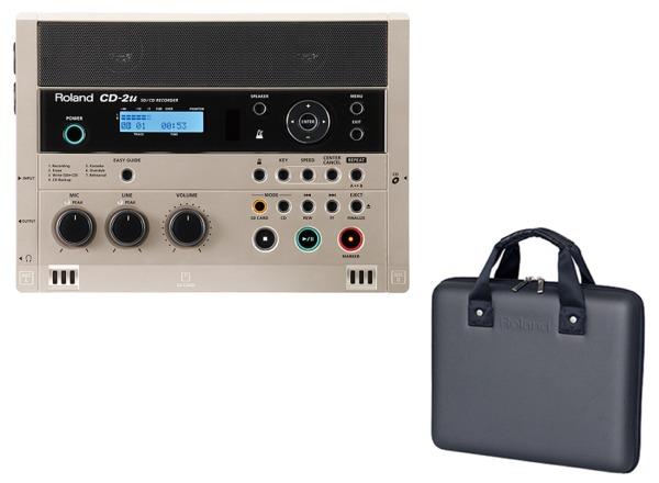 【送料無料】ローランド Roland CD-2u(専用ケース/CB-CD2E付) 練習や学習に活かせる、簡単操作で高品位なレコーディングが可能なSD/CDレコーダー【smtb-TK】
