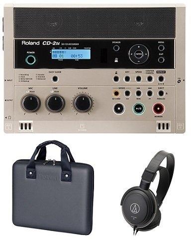 【送料無料】ローランド Roland CD-2u(専用ケース/CB-CD2E+audio-technicaヘッドホン付) 練習や学習に活かせる、簡単操作で高品位なレコーディングが可能なSD/CDレコーダー【smtb-TK】