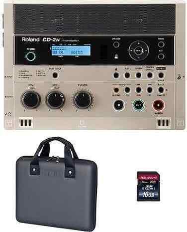 【送料無料】ローランド Roland CD-2u(専用ケース/CB-CD2E+SDHCカード/16GB付) 練習や学習に活かせる、簡単操作で高品位なレコーディングが可能なSD/CDレコーダー【smtb-TK】