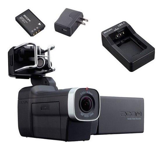【送料無料】ズーム ZOOM Q8(追加充電式リチウムイオンバッテリー/BT-03 + BT-03充電器/LBC-1 + ACアダプター/AD-17A付) マイクカプセル交換型ビデオカメラ【smtb-TK】