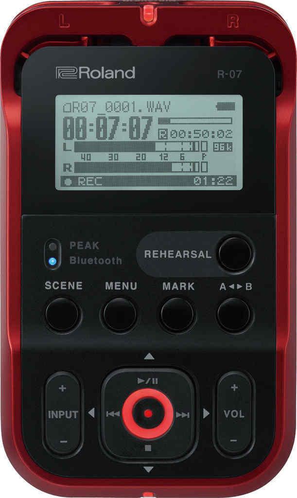 【即出荷】 【特典付】【送料無料】ローランド R-07-RD レッド Roland R-07-RD Bluetooth レッド Bluetooth aptX ハイレゾ レコーダー R-07/RD【smtb-TK】, 上磯町:eadbf24d --- test.ips.pl