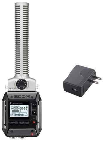 【送料無料】ズーム ZOOM F1-SP(純正ACアダプター/AD-17付) 軽量コンパクトなフィールドレコーダー+超指向性ショットガンマイク【smtb-TK】