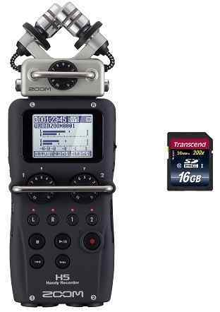 ZOOM H5(SDHCカード/16GB付)【送料無料】ズーム ハンディ・レコーダー【smtb-TK】【ポイント5倍】