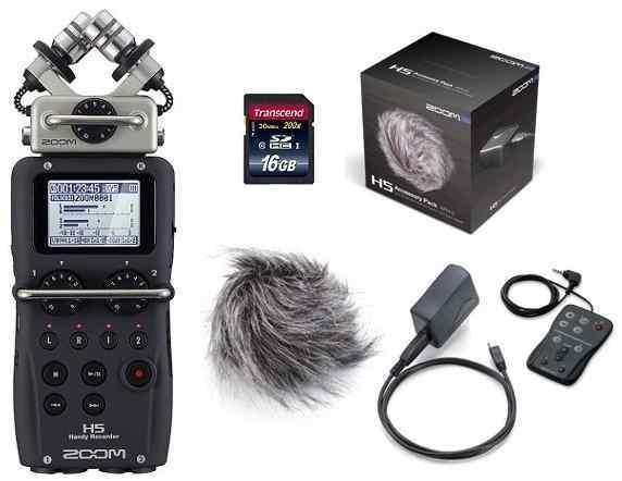 ZOOM H5(純正アクセサリーパック/APH-5+SDHCカード/16GB付)【送料無料】ズーム ハンディ・レコーダー 【smtb-TK】