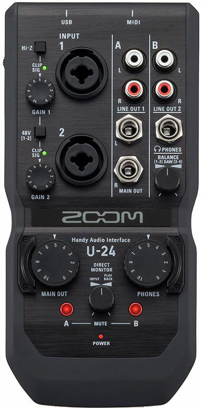 【送料無料】ズーム ZOOM U-24 モバイルレコーディングに、ライブパフォーマンスに 2in/4out Handy Audio Interface【smtb-TK】