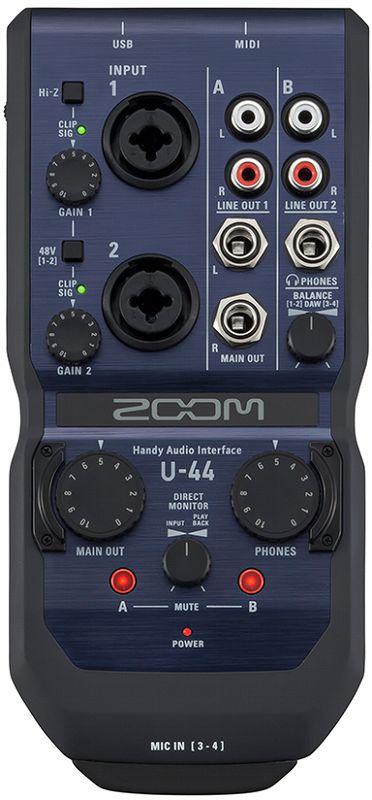【送料無料】ズーム ZOOM U-44 モバイルスタジオの中心に スタジオクラスの高音質 4in/4out Handy Audio Interface【smtb-TK】