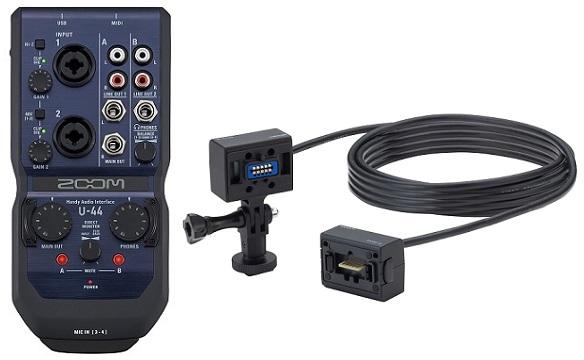 【送料無料】ズーム ZOOM U-44+ECM-6(マイクカプセル用延長ケーブル6m) モバイルスタジオの中心に スタジオクラスの高音質 4in/4out Handy Audio Interface【smtb-TK】