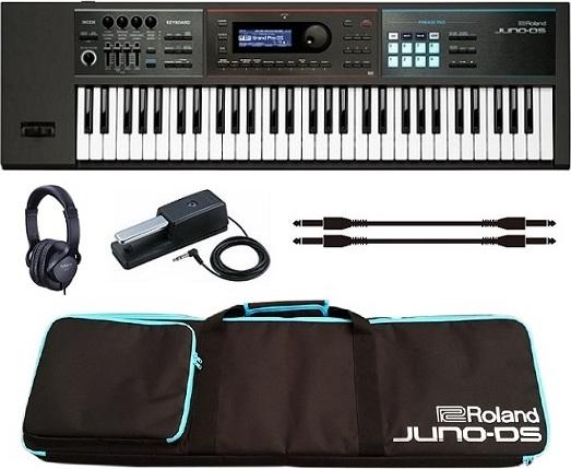 【特典付】【送料無料】ローランド Roland JUNO-DS61+ソフトケース+ダンパーペダル+ヘッドホン+接続ケーブル2本 Simply Creative 「高音質」「軽量」「簡単操作」【smtb-TK】【代金引換不可】