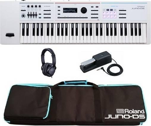 【特典付】Roland JUNO-DS61W+ソフトケース+ダンパーペダル+ヘッドホン ローランド ホワイト Simply Creative 高音質/軽量/簡単操作【smtb-TK】【代金引換不可】【送料無料】