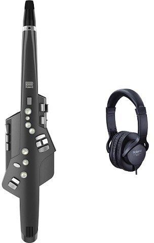 【送料無料】ローランド Roland AE-10G+RH-5(純正ヘッドホン) Aerophone GRAPHITE BLACK エアロフォン サックスの運指に準拠したウインドシンセサイザー【smtb-TK】