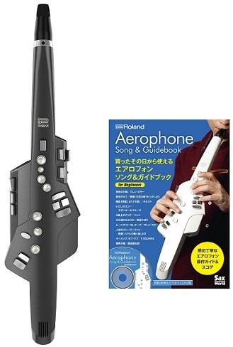 【送料無料】ローランド Roland AE-10G + エアロフォン ソング&ガイドブック for Beginners Aerophone GRAPHITE BLACK エアロフォン サックスの運指に準拠したウインドシンセサイザー【smtb-TK】