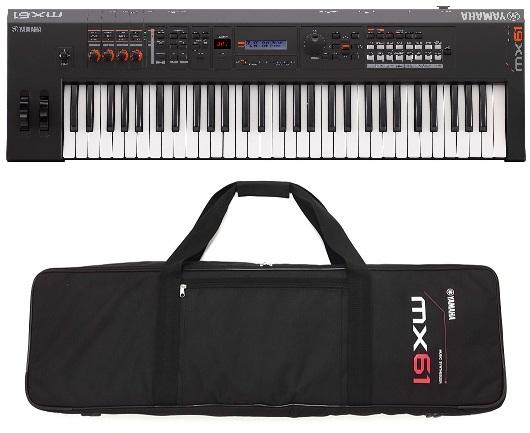 【送料無料】ヤマハ YAMAHA MX61 BK+専用ソフトケース 良い音を気軽に持ち運ぶシンセサイザー【smtb-TK】【代金引換不可】