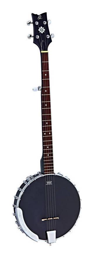 ORTEGA OBJE250OP-SBK 引出物 ピックアップ搭載 5弦 バンジョー SERIES 送料無料 NEW RAVEN smtb-TK ギグバッグ付