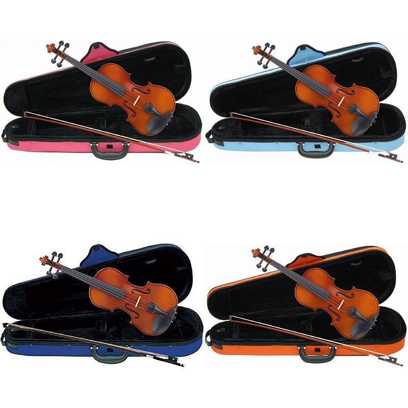 【送料無料】Carlo giordano VS-1C バイオリンセット [サイズ:4/4 3/4 1/2 1/4 1/8 1/10 1/16][ケース:ピンク 青 水色 オレンジ]【smtb-TK】