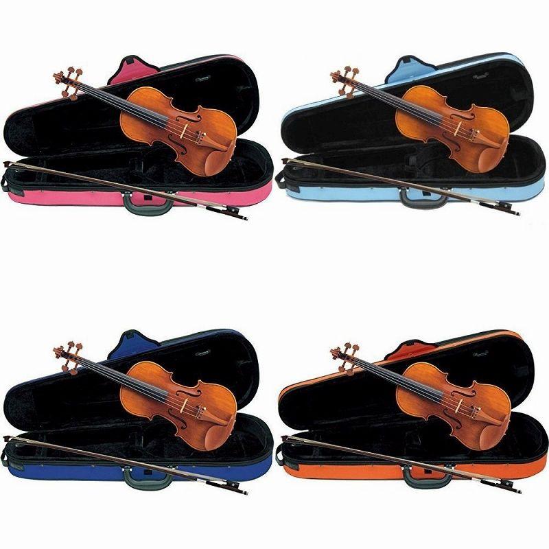 【送料無料】Carlo giordano VS-2C バイオリンセット [サイズ:4/4 3/4 1/2 1/4 1/8 1/10 1/16][ケース:ピンク 青 水色 オレンジ]【smtb-TK】