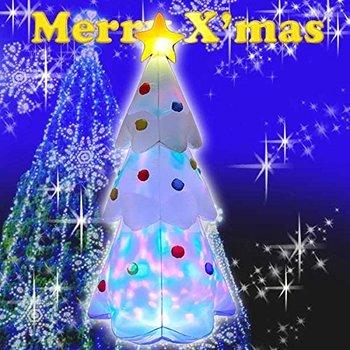 【送料無料】エアーディスコライトディスプレイ ツリー180cm WG-4513 クリスマス エアーディスプレイ 室内用 クリスマス ディスプレイ クリスマスイルミネーション クリスマスツリー 電飾