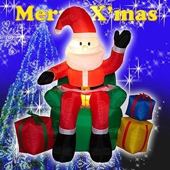 【送料無料】エアーディスプレイ チェアーサンタ WG-5506 サンタクロース エアーディスプレイ 室内用 クリスマス ディスプレイ クリスマスイルミネーション クリスマス 電飾