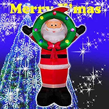 【送料無料】クリスマス エアーディスプレイ GIGAサイズ ジャンボビッグリースサンタ WG-5521 サンタクロース エアーディスプレイ 室内用 クリスマス ディスプレイ クリスマスイルミネーション クリスマス 電飾