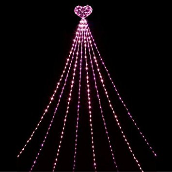【送料無料】LEDナイアガラライト DXハート (ピンク&ベビーピンク) WG-2418 LEDイルミネーション クリスマスイルミネーション ナイアガライルミネーション 省電力 防滴 長寿命 屋外使用
