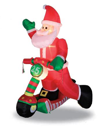 【送料無料】エアーディスプレイ サンタライダー WG-5507 サンタクロース エアーディスプレイ 室内用 クリスマス ディスプレイ クリスマスイルミネーション クリスマス 電飾