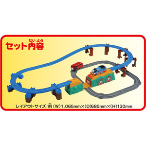 -托马斯火车头托马斯 · 伯蒂和竞争 ! 彩虹桥设置腹部训练玩具男孩礼物生日礼物火车玩具 Tomy(takaratomy)