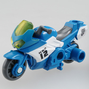 Tomica series hyper hyper blue police HBP12 Honda VFR Dino Raptor Tomica miniature cars toy boy gifts birthday gifts Tomy(takaratomy)