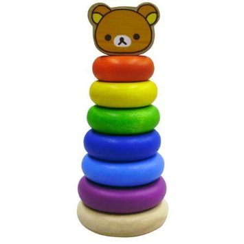 Rilakkuma Stacking Rings Wood Toys Wooden Educational Childrens Infant Baby 2 Years Old Gift I Gifts Block Birthday Boy