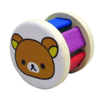 Rilakkuma Roller Rattle Wood Toys Wooden Educational For Children Infant Baby 6 Months Gift I Gifts Block Birthday Boy