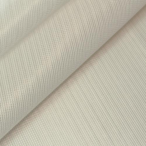 シンプル 人気 爽やかなレースカーテンです WaveSalad 国内正規品 ストライプ柄オーダーレースカーテン アイボリー 爽やか RibStripe リブストライプ -