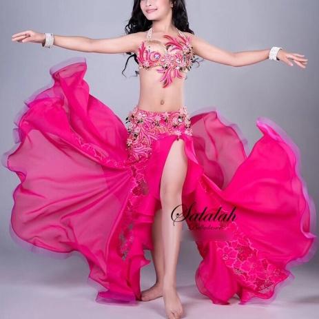 キッズベリーダンス衣装 全3色 ピンク ブルー オレンジ ベリーダンス 衣装 コスチューム 高品質 コスチューム 発表会 ステージ レッスン ブラック ホワイト
