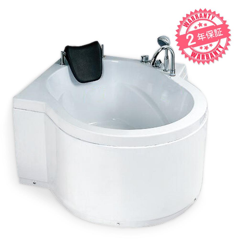 2年保証バスタブ・最安お浴槽・エプロン付き風呂◆サイズ:131x129x58h ◆エレガントなバスタブ【1382】置き型タイプ、FRPバスタブ・排水栓付き浴槽、浴室用品、バスタブ一般、防水スカート付きバスタブ、お風呂、浴槽